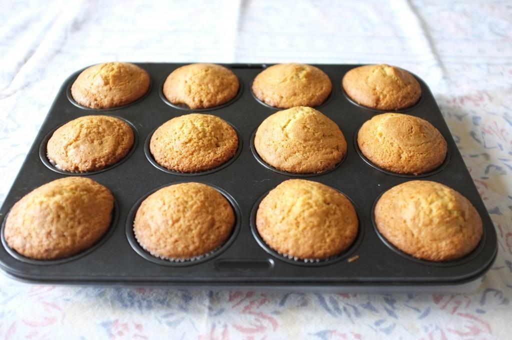 les cupcake à la sortie du four
