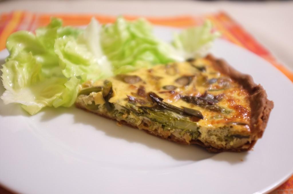 tarte sans gluten aux asperges et poireaux