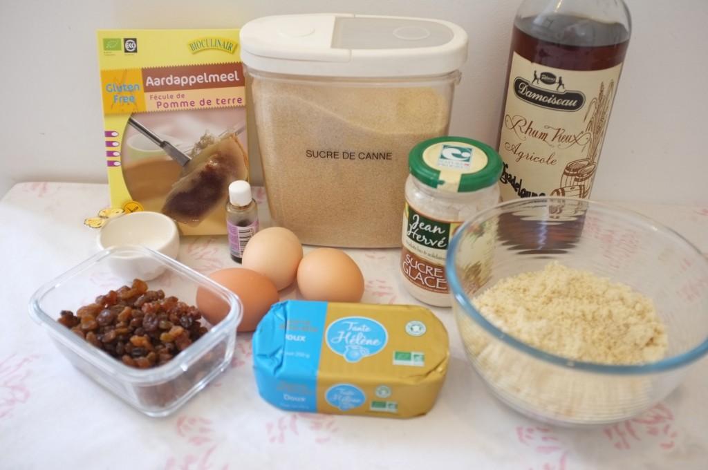 """Ingrédients pour le gâteau """"Pain de Gênes"""""""