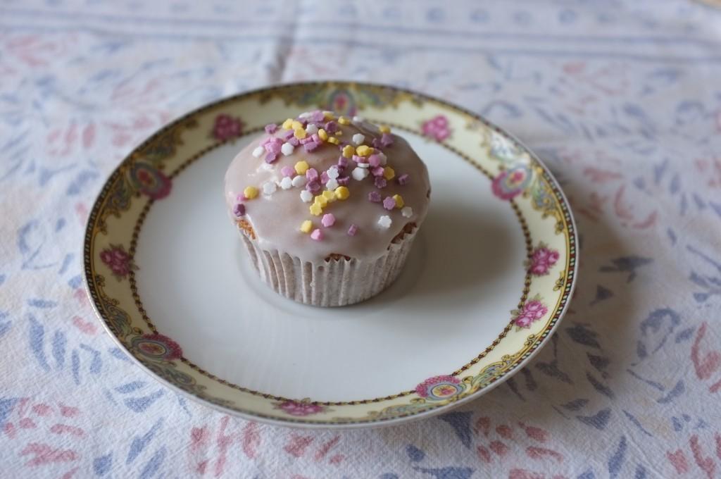 cupcake sans gluten à la vanille et glacage au sucre