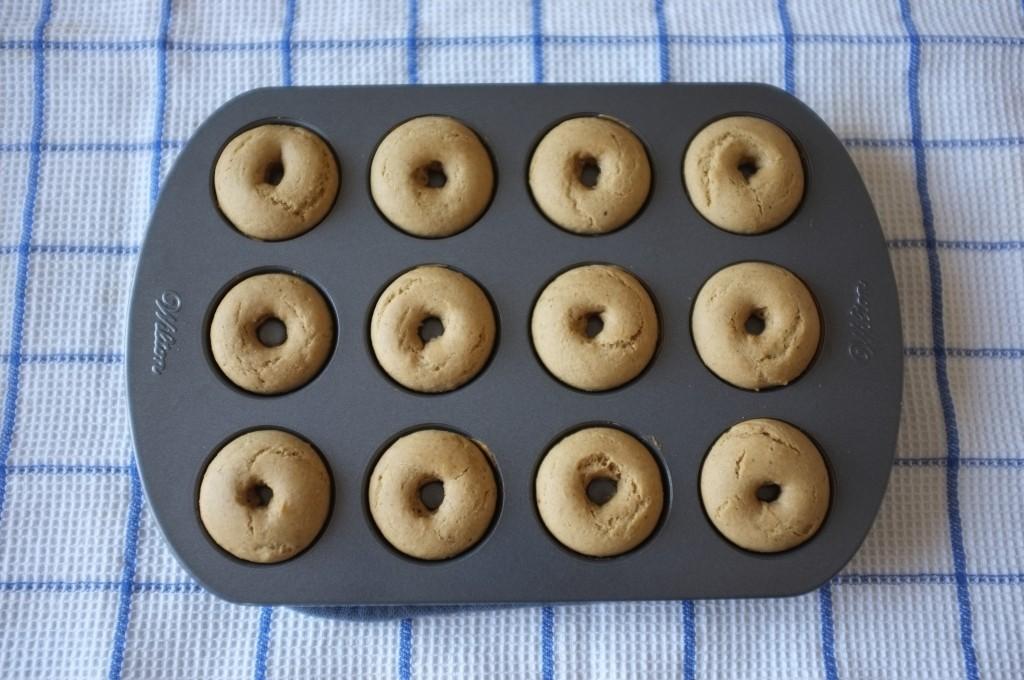 mini donuts sans gluten à la sortie du four