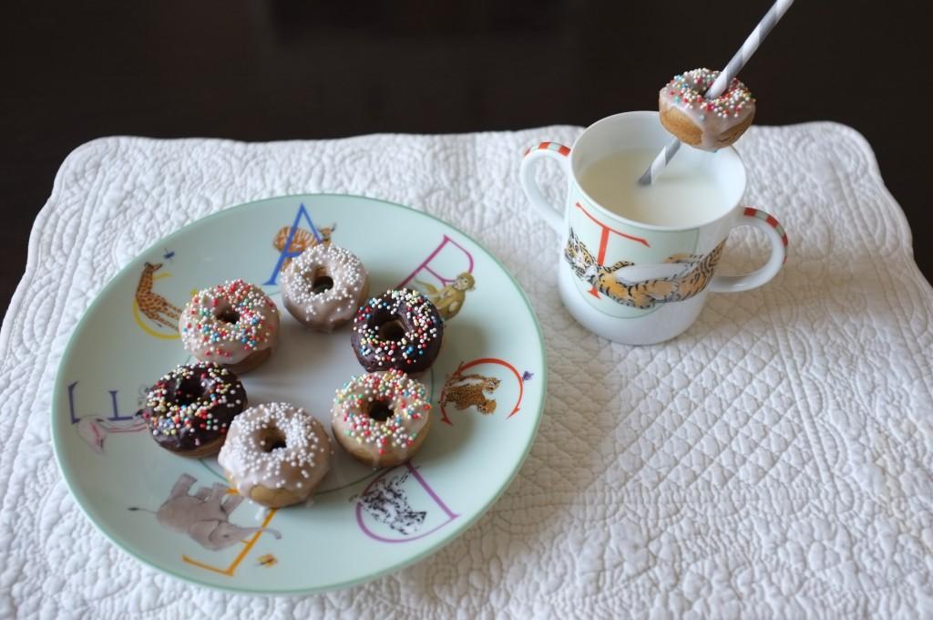 mini donuts sans gluten à la vanille pour les enfants