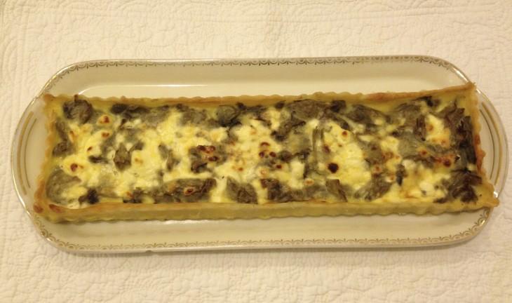 Recette sans gluten de tarte aux coeurs d'artichauts et fromage de chèvre