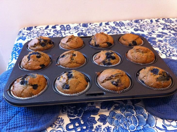 Recette des muffins sans gluten banane – myrtille