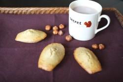 recette sans gluten de madeleine à la noisette