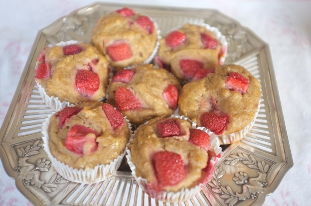 muffins à la fraise et à la banana
