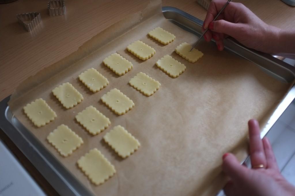 petite décoration sur les crackers