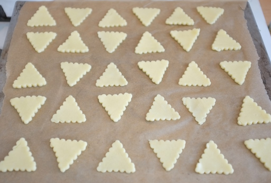 Des crackers en forme de triangle