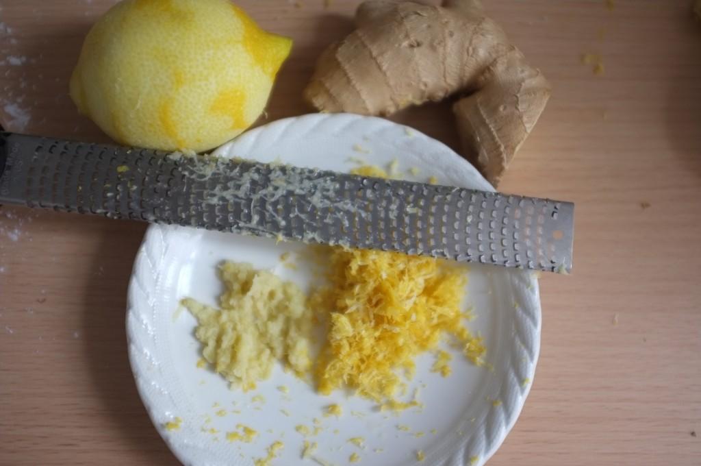Les zestes de citron et de gingembre