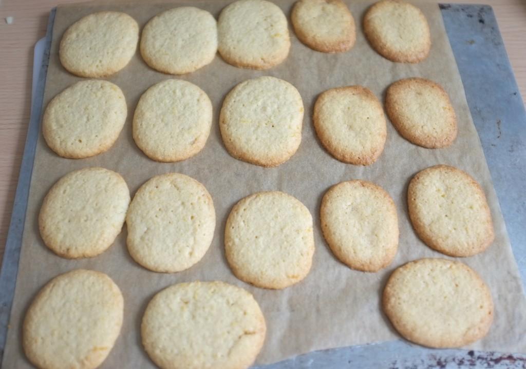 Les biscuits à la sortie du four