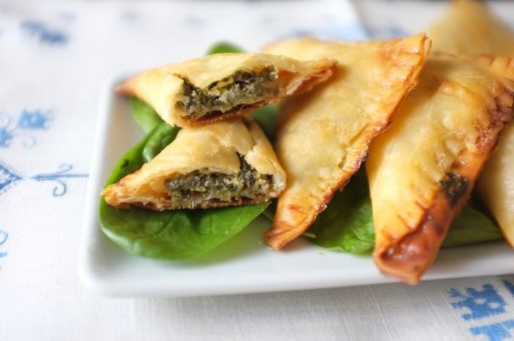recette sans gluten de «Spanakopita»: feuilleté à l'épinard et féta