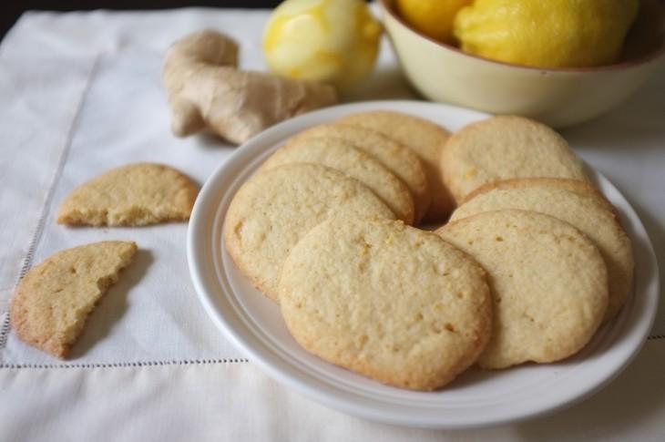 recette sans gluten de biscuit au citron et gingembre