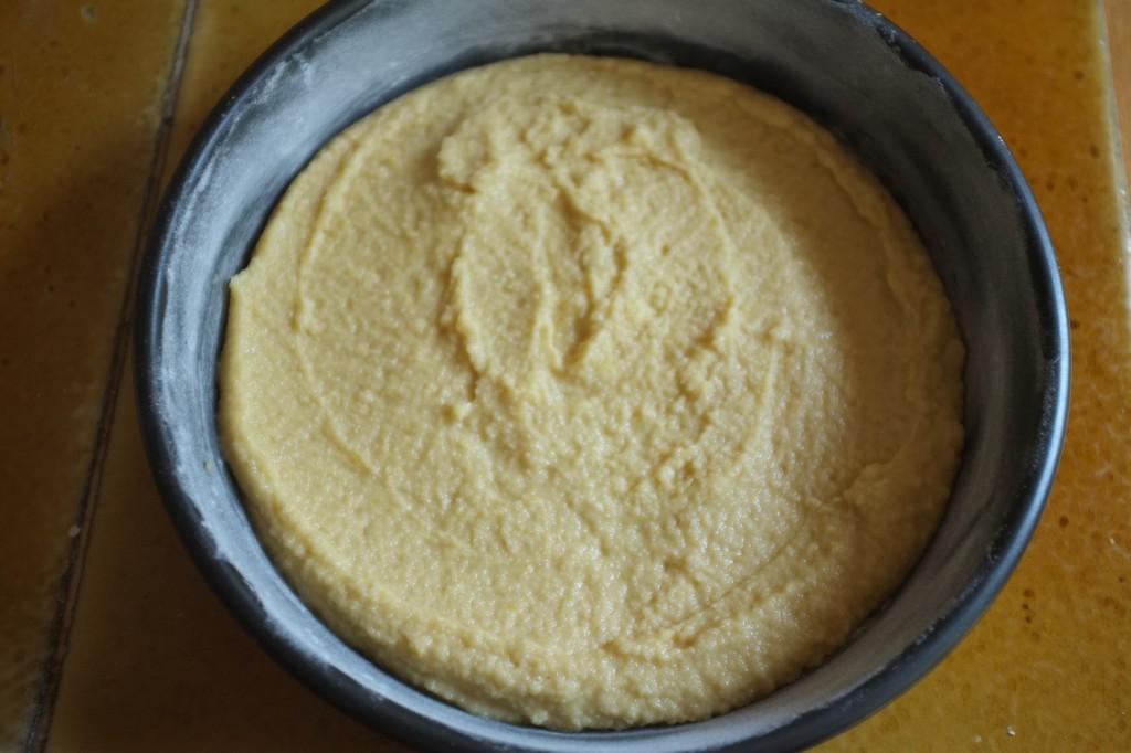 Le gâteau avant d'être enfourné