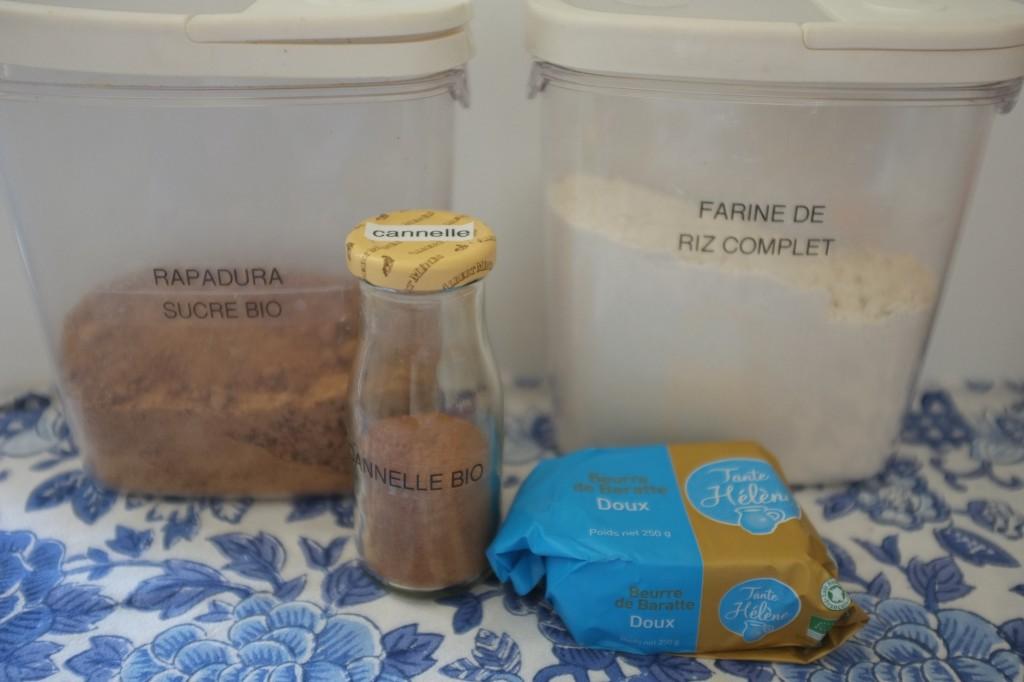 """Les ingrédients pour le """"crumble de sucre à la cannelle"""""""