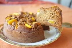 recette sans gluten de gâteau pêche cannelle