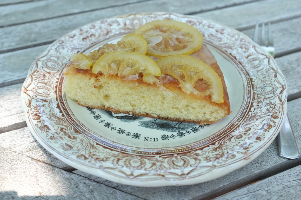 gâteau à l'amande et aux citrons confits
