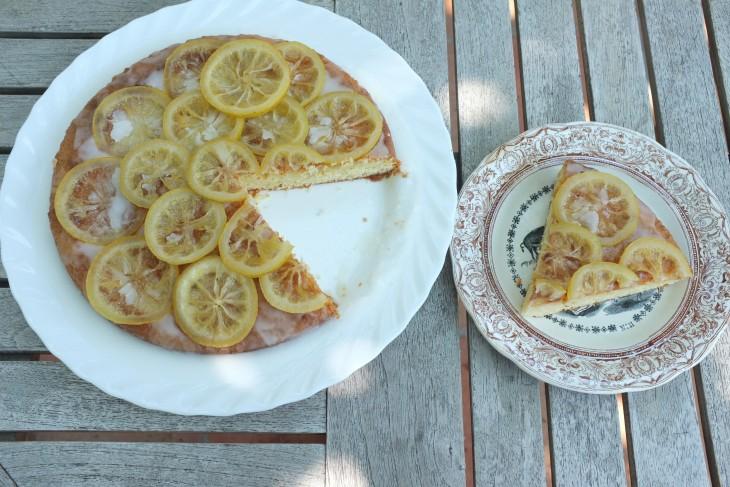 recette sans gluten de gâteau à l'amande et citrons confits