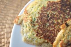recette sans gluten de petite crêpe à la courgette