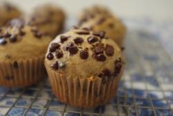 recette sans gluten de muffins aux pépites de chocolat et à la banane