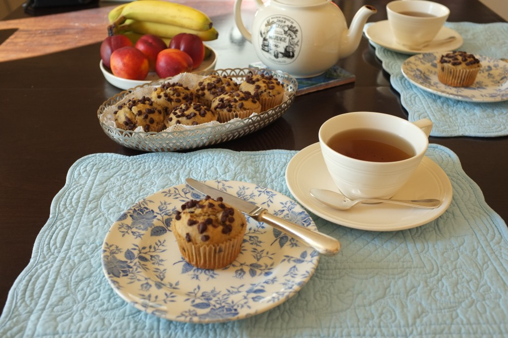 Muffins aux pépites de chocolat et à la banane