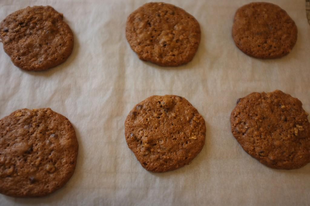 Les cookies à la sortie du four