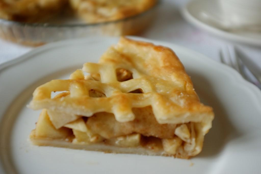 L'Apple pie, ici sur la table du petit déjeuner