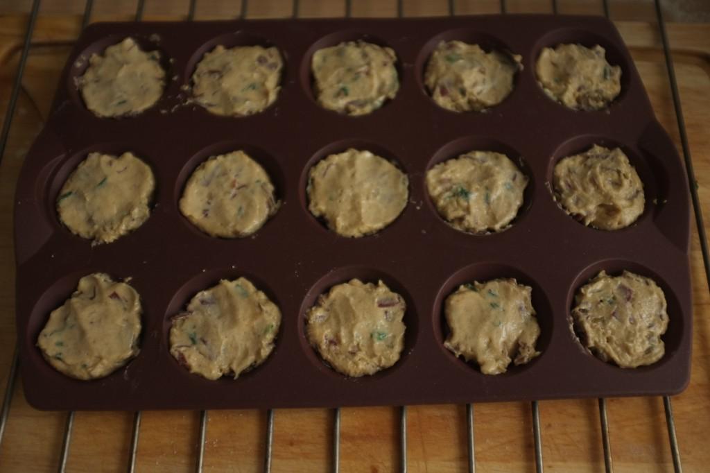 Les mini cake avant d'être enfournés