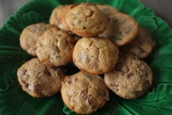 recette sans gluten de petits cake châtaigne, olive et viande de grison