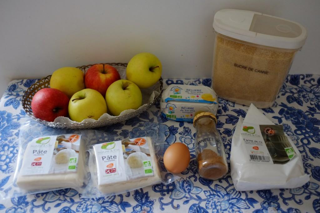 Les ingrédients pour une Apple Pie rapide