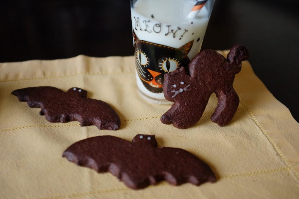 Les biscuits au chocolat pour Halloween