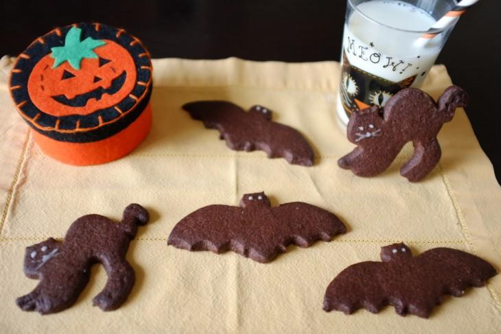 recette sans gluten de biscuit au chocolat pour Halloween