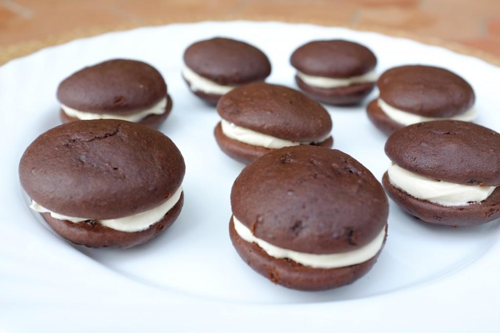 Les biscuits whoopie sans gluten au chocolat