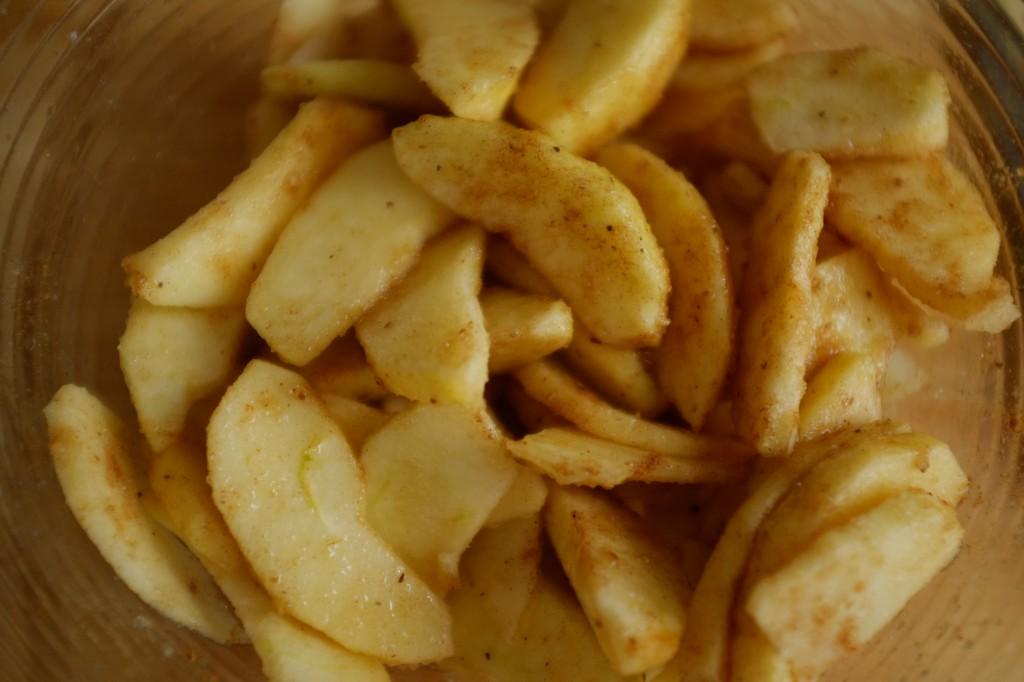Les pomme sont sucrées et épicées
