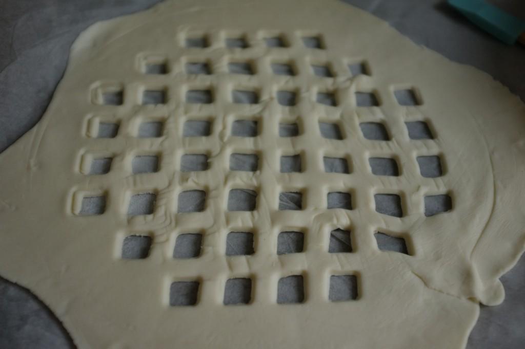 La pâte du dessus ajourée de l'Apple pie
