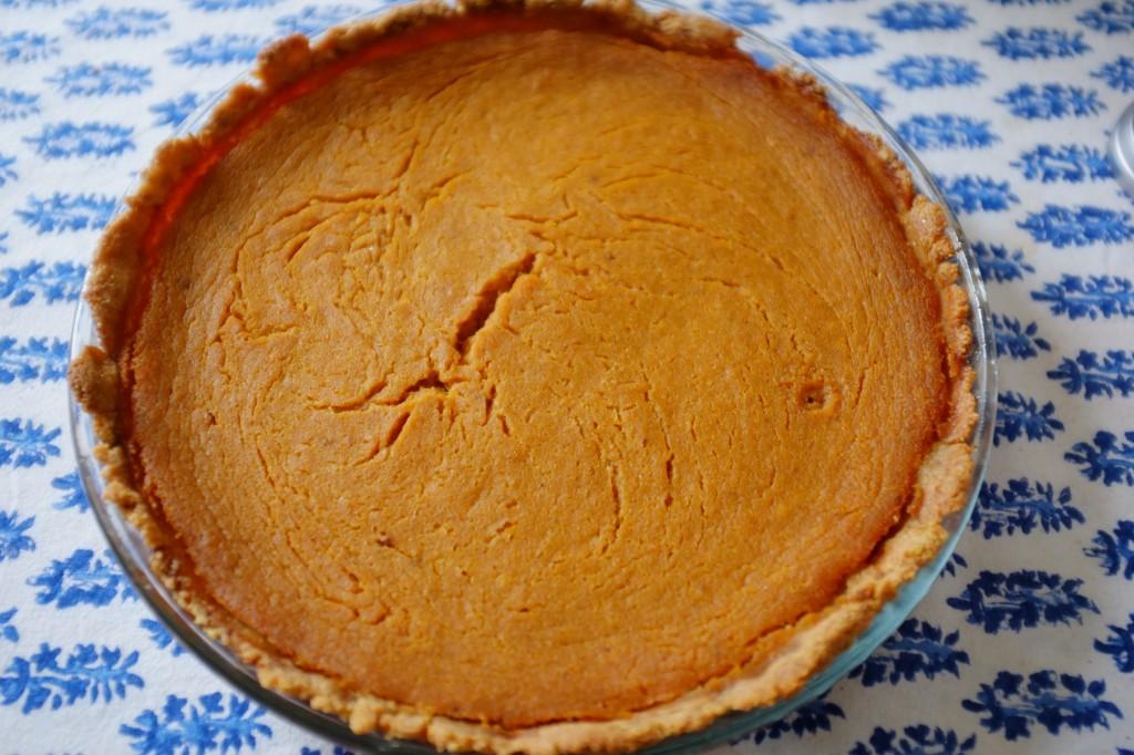 La tarte au potiron sans gluten une fois refroidie