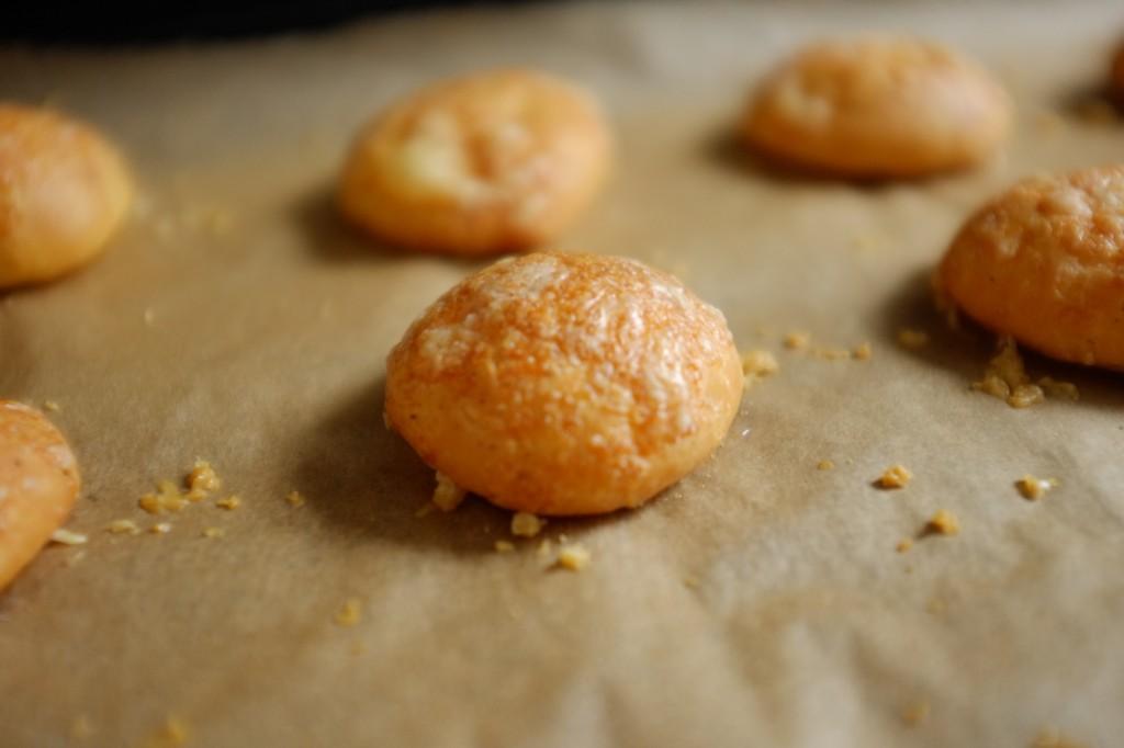 une belle petite gougère sans gluten toute dorée