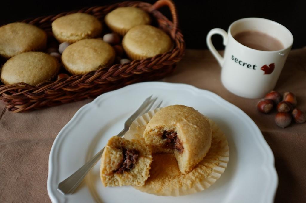 """Les muffins sans gluten à la pâte à tartiner """"noisette"""""""