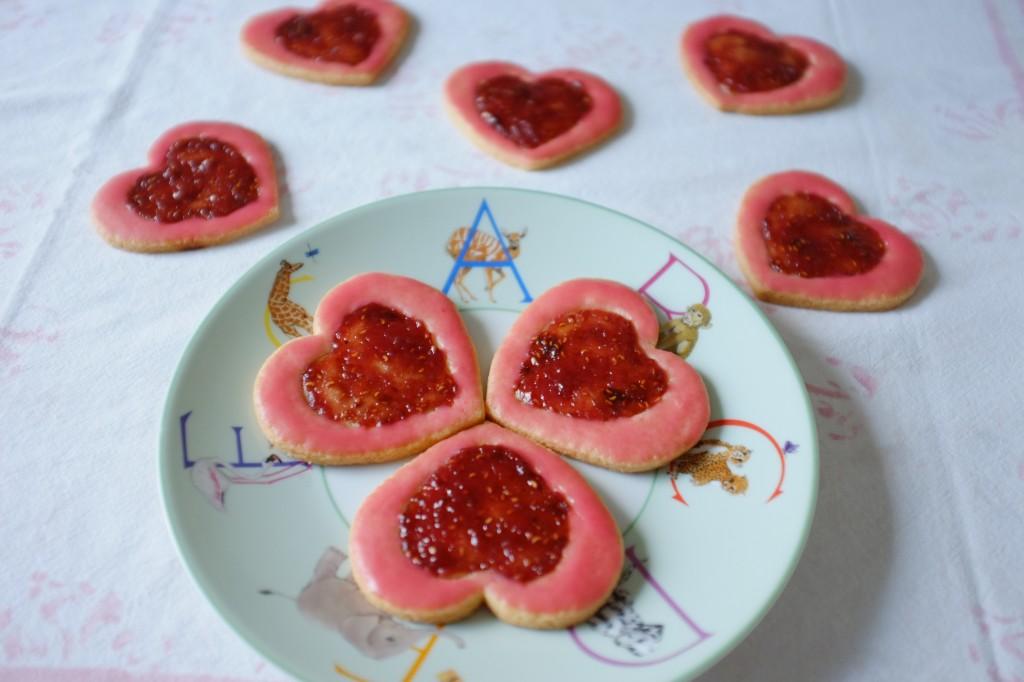 Les biscuit sans gluten litchi-framboise