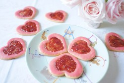 recette sans gluten de biscuit litchi-framboise
