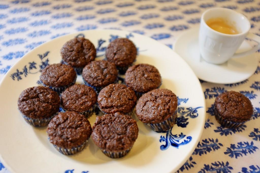 Les mini muffins sans gluten à l'expresso-chocolat