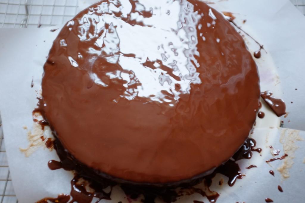 Le magnifique glaçage au chocolat