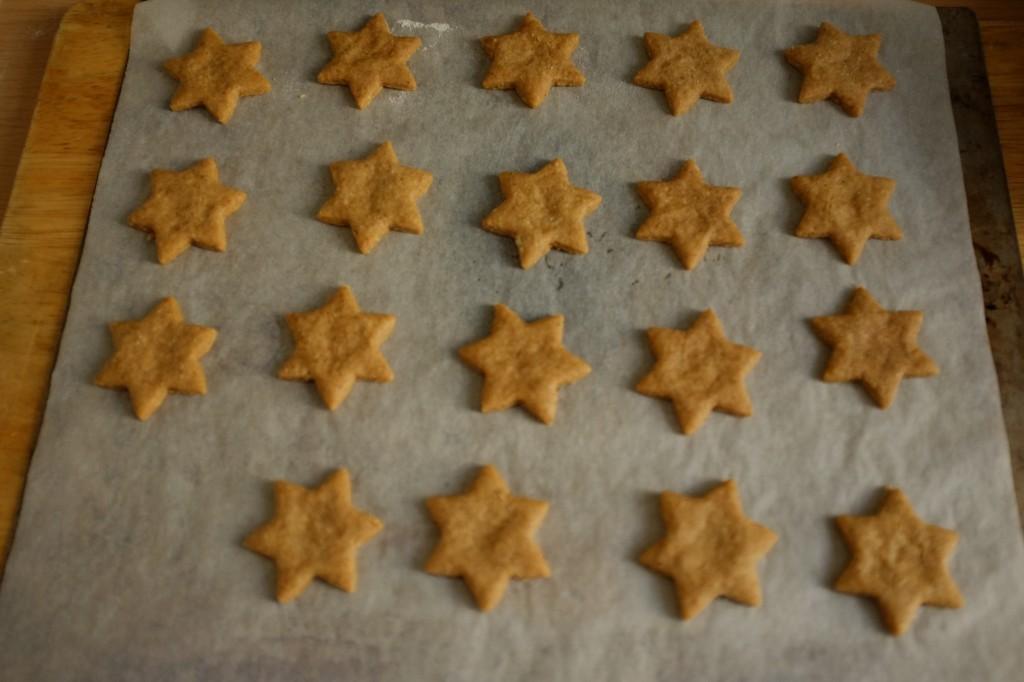 Les biscuits Spéculoos sans gluten à la sortie du four