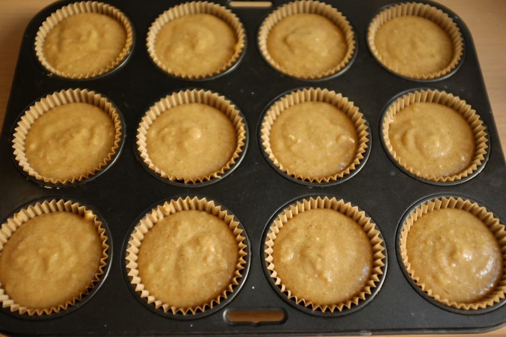 Les muffins avant d'être enfournés