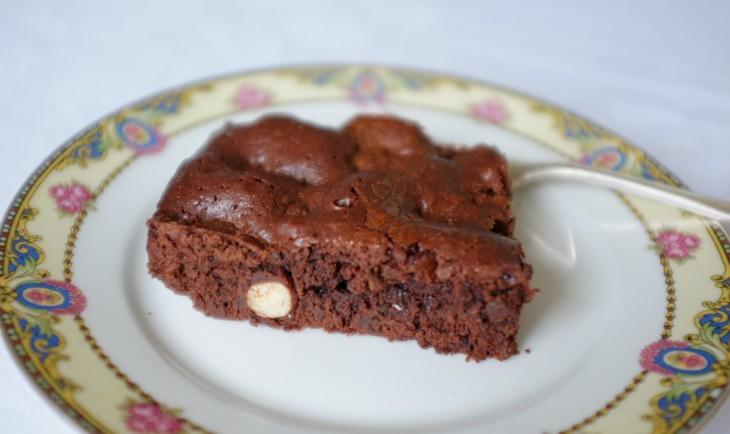 recette sans gluten de brownie chocolat aux noisettes