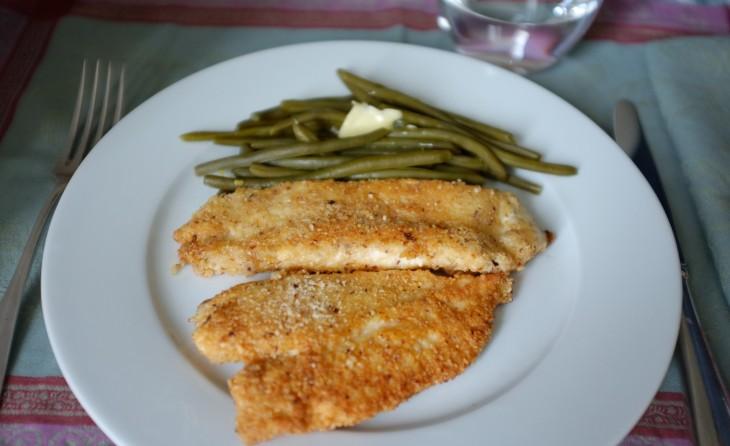 recette sans gluten d'escalope de poulet panée au parmesan et à la noisette
