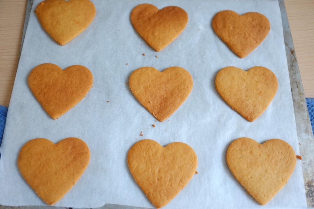 Les biscuits sans gluten à la farine de coco, à la sortie du four