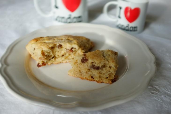 recette sans gluten de scones aux raisins secs