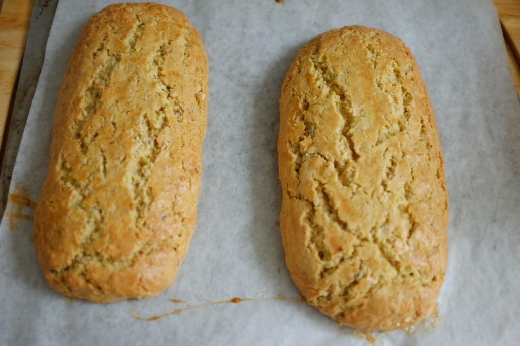 Les biscotti orange, amande sans gluten à la sotie du four