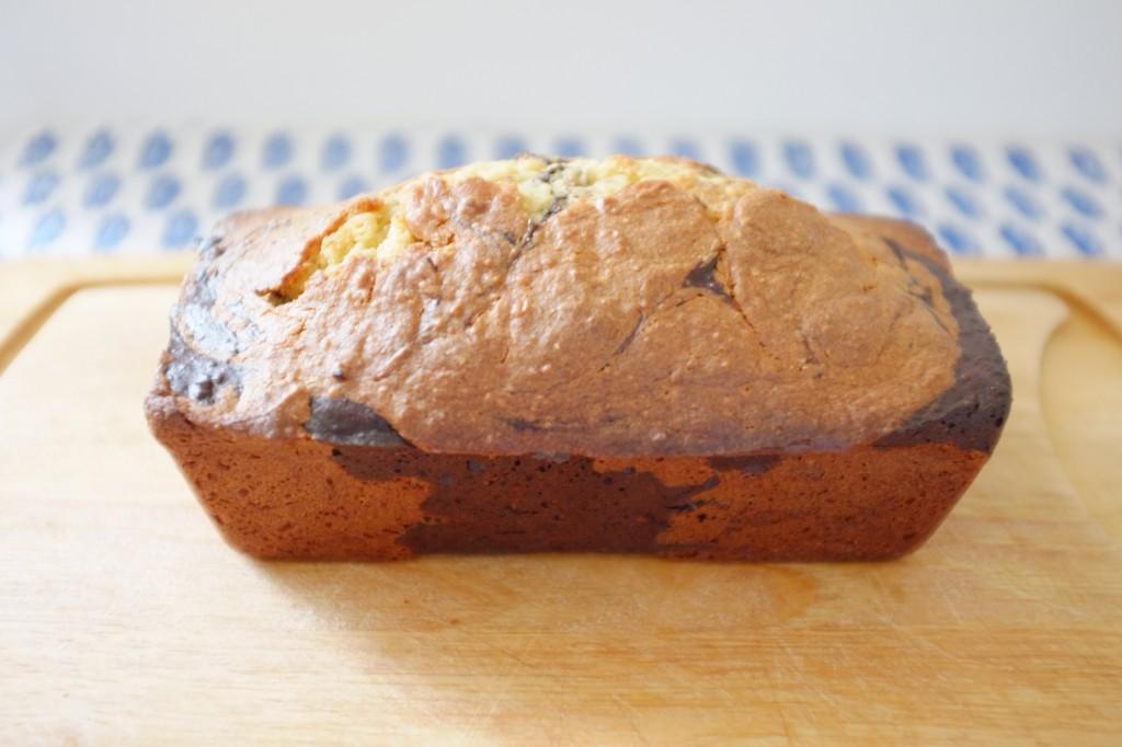 """10 mn après la sortie du four, le cake sans gluten est démoulé pour qu'il ne devienne pas """"détrempé"""""""