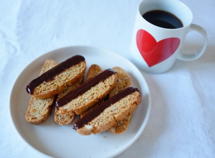 recette sans gluten de biscotti orange, amande et chocolat noir